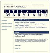 Tydings & Rosenberg Litigation Maryland
